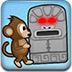 小猴子推石像