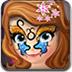 索菲亚的脸部彩绘