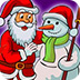 圣诞公公填颜色 小游戏