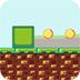 绿方块收集金币小游戏