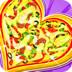 制作美味心形匹萨