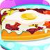 法式面包煎蛋披萨