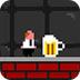 喝啤酒的汉子