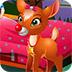 可爱宝贝照顾麋鹿